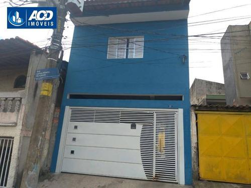 Imagem 1 de 16 de Sobrado Com 2 Dormitórios Para Alugar, 100 M² Por R$ 1.500,00/mês - Jardim Álamo - Guarulhos/sp - So0169