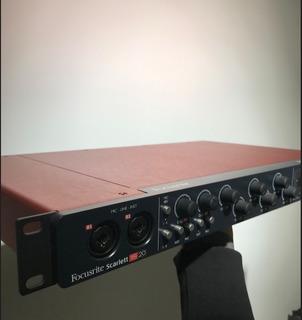 Placa De Audio Focusrite Scarlett 18i20 Igual A Nuevo