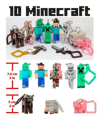 Llaveros De Minecraft (set 10 Piezas) 5 A 8 Centímetros