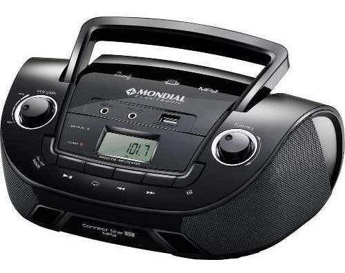 Caixa Som Mondial Caixinha Rádio Digital Fm Mw Musica Mp3 Usb Bivolt 110v 220v Com Entradas Para Fones De Ouvido Barato