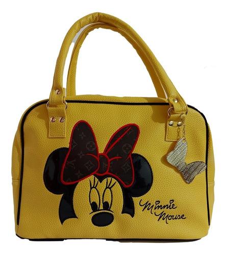 Imagen 1 de 8 de  Bolsa De Dama, De Disney, Minnie Mouse En Color Amarillo.