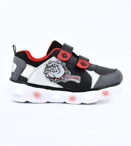 Zapatillas Footy Dinosaurio Con Luces Y Luz Led Abrojos