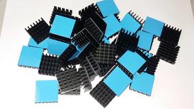 Dissipador De Calor 20x20x6mm Com Fita Térmica Cond - 50 Pçs
