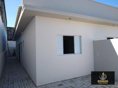 Casa Com 2 Dormitórios À Venda, 52 M² Por R$ 190.000,00 - Recanto Dos Bandeirantes - Itanhaém/sp - Ca1265