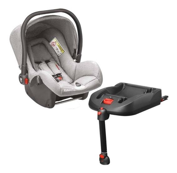 Bebê Conforto Fisher-price Cinza Com Base Isofix Para Carro