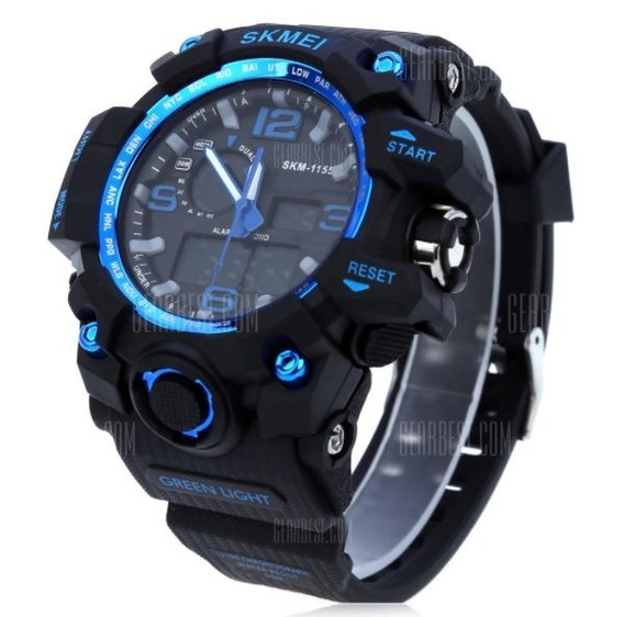 Relogio Skmei 1155 Men Led Digital Quartz Watch - Blue