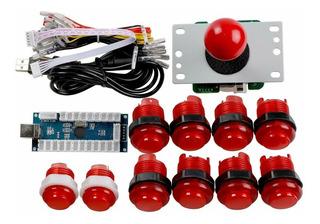 Kit Arcade Joystick Botones Zero Delay Pc Mame Raspberry 2gt