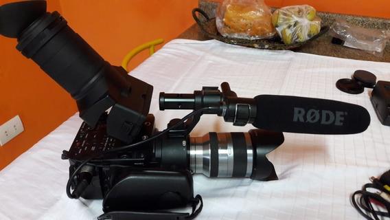 Filmadora Sony Nex Fs100 Com Lente 18 X 200mm