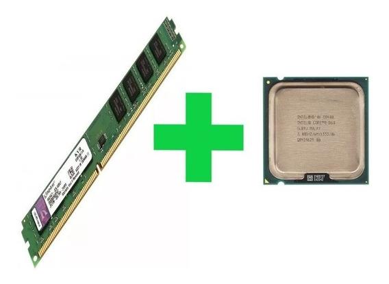 Processador Core 2 Duo 3.0 Ghz E8400 + Memória 4gb Ddr3