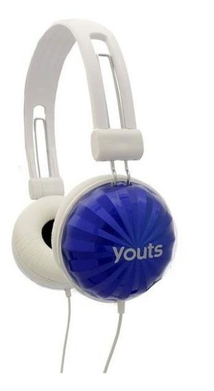 Headphone Stereo Youts Yhd520 Fones Redução De Ruído Externo