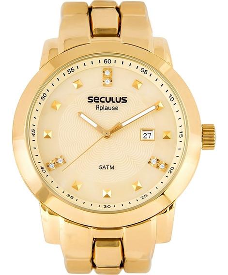 Relógio Feminino Seculus 20422lpsvda1 Aço Dourado