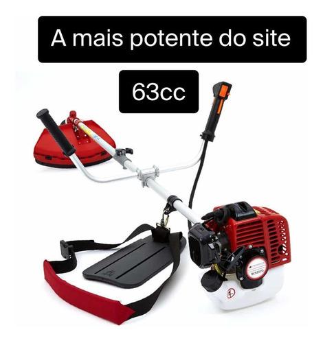 Roçadeira A Gasolina 63cc + Frete Rapido + Lamina De Brinde!