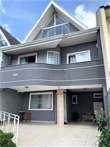 Imagem 1 de 30 de Vende Sobrado 4 Dormitórios - Santa Felicidade - Curitiba - So0104