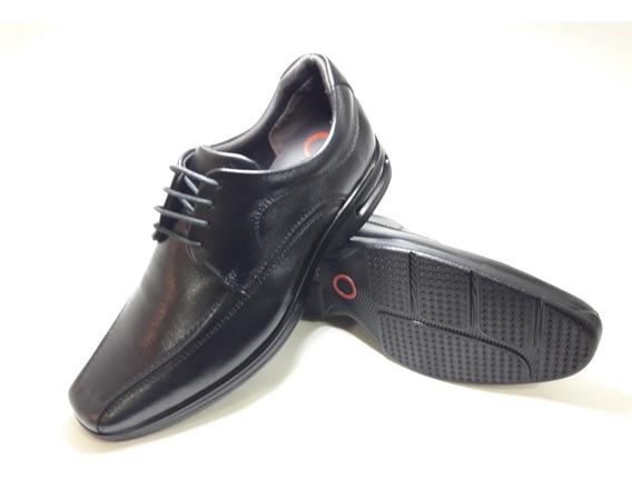 Sapato Democrata Air Spot Preto 448026 +meia Lupo Brinde