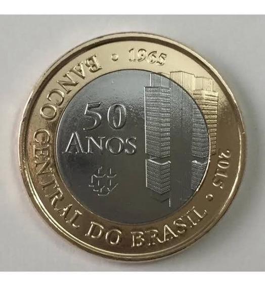 Moeda 1 Real Edição Comemorativa 50 Anos Banco Central