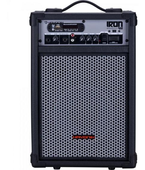 Caixa Multiuso Bluetooth/usb/sd/fm 60w Pt Iron 400 Hayonik