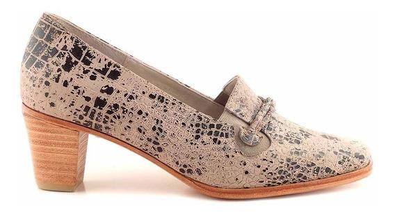 Zapato Cuero Mujer Briganti De Vestir Con Taco - Mccz33002