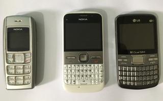 Lote 3 Celulares Originais Nokia E5, 1600 E 1lg C199 Usados