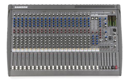 Imagen 1 de 10 de Mixer Samson L2400 24ch 18 Xlr+4 St Eq 3bandas Detalle Sale%