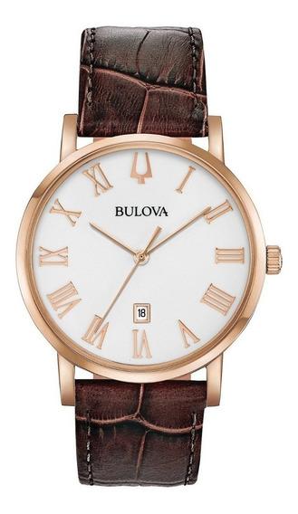 Relógio Bulova Masculino Slim American Clipper 97b184 + Nfe + Garantia