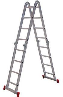 Escada Articulada Botafogo Lar&lazer 4 X 4 Em Alumínio 16 De