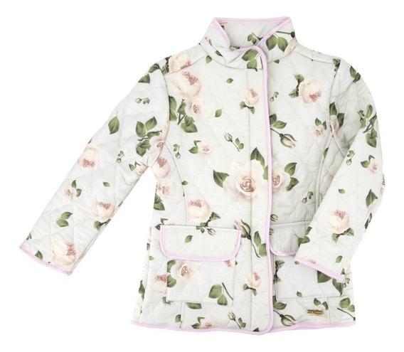 Chamarra/abrigo Floreada Para Niña En Oferta 02002