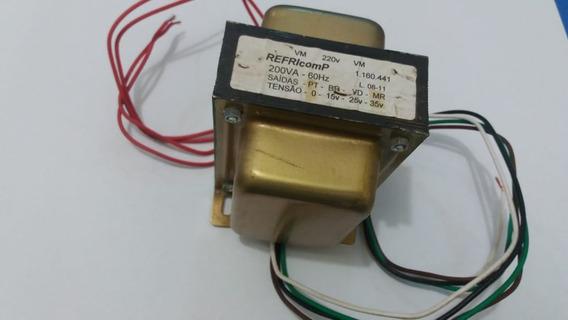 Transformador Vidros 220v 60hz 35v Refricomp Cod:6022