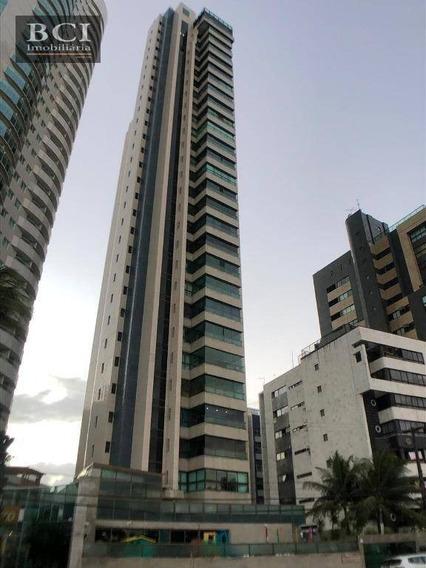 Apartamento Alto Padrão Com 4 Dormitórios, 3 Vagas De Garagem, Para Alugar, 202 M² Por R$ 7.000/mês - Boa Viagem - Recife/pe - Ap0518