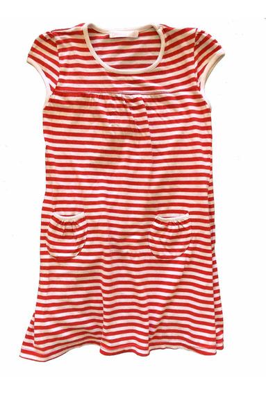 Vestido De Nena Coniglio Rojo Y Blanco. T. 6