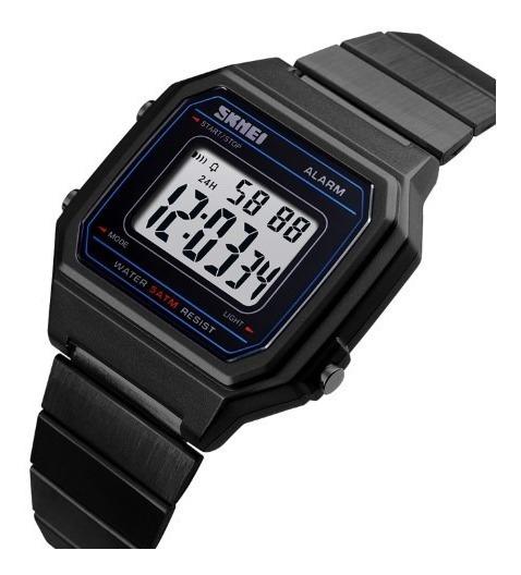 Relógio Masculino Skmei 1377 Digital Social Quadrado Inox