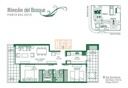 Apartamento En Rincã³n Del Indio, 2 Dormitorios - Ref: 13179