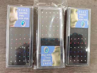 Piercing Para Nariz Con Strass Curvo X160 Und ( 4 Paquetes)