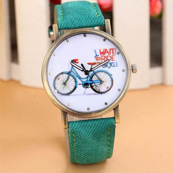 Promoção Relógio Ride Bike Modelo Exclusivo! Retro Couro!