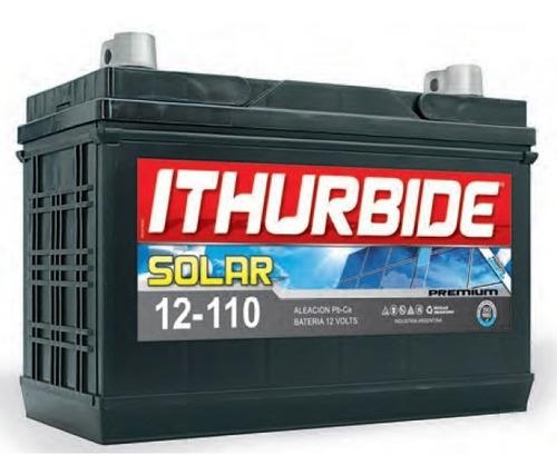 Imagen 1 de 2 de Batería Ithurbide Solar Premium 12v 110ah