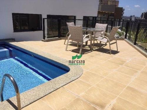 Cobertura Com 3 Dormitórios À Venda, 220 M² Por R$ 1.100.000,00 - Pituba - Salvador/ba - Co0025