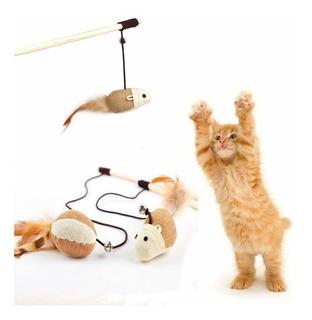 Juguete Para Gatos, Vara Para Gato, Juguete Gatitos,vara Cat