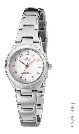 Relógio Champion Feminino Prata Original