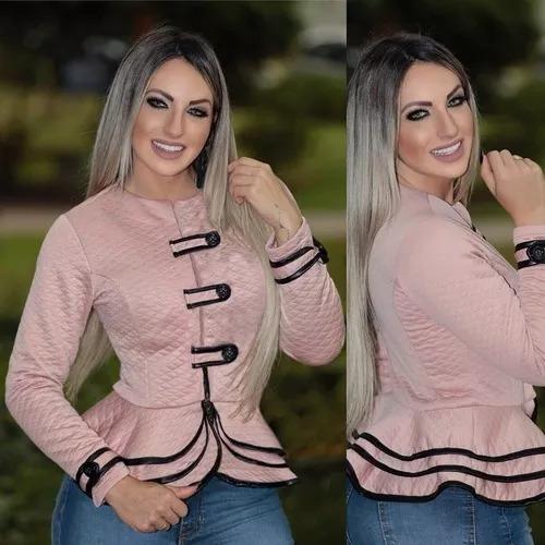 Blazer Casaco Jacquard Outono Inverno Tendência 2019 #ve