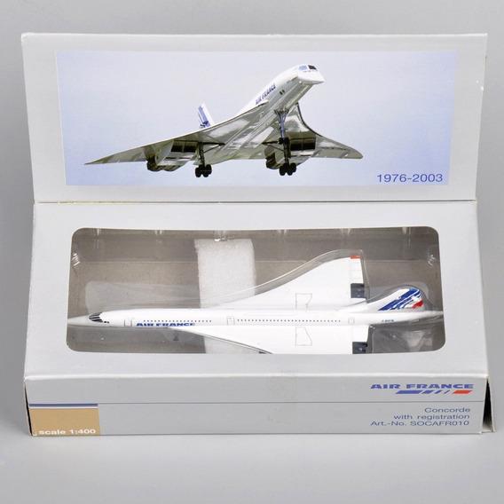 Maquete/miniatura Avião Concorde Airfrance 1:400
