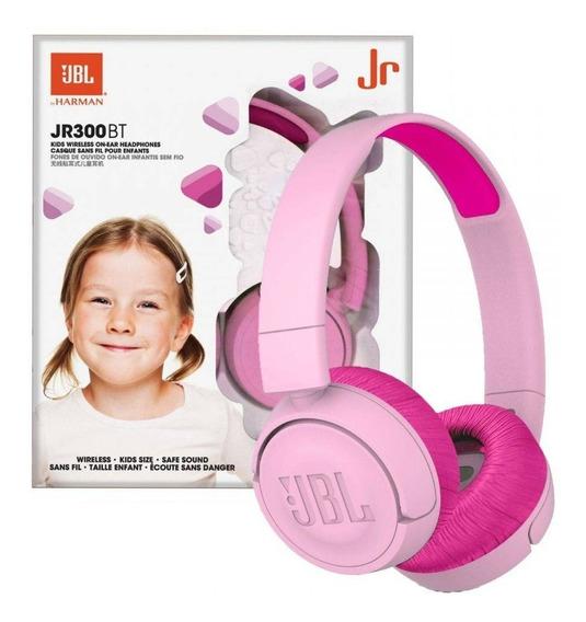 Fone De Ouvido Jbl Infantil Jr300bt Bluetooth Rosa + Nf