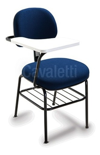 Cadeira Cavaletti Universitária Executiva Acolchoada Preta