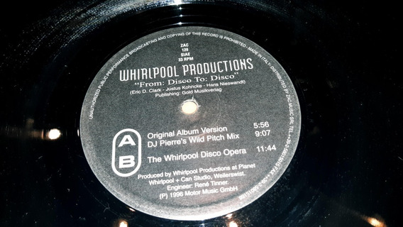 Whirlpool Productions From Disco To Disco Maxi Italy 1996