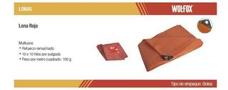 Lona Roja 3.7m X 4.9m Wf0022 Wolfox