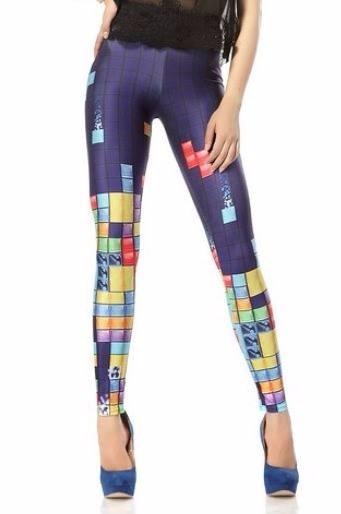 Leggings/calzas Simil Blackmilk - Retro Gamer - Tetris