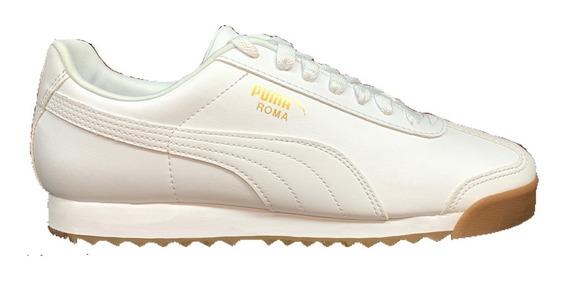 Tenis Puma Roma Hombre Blanco 353572-58 Look Trendy