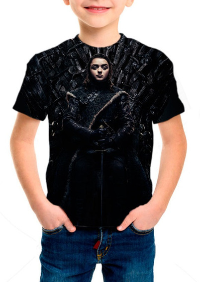 Camiseta Infantil Game Of Thrones 8ª Temporada Arya - M001