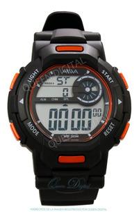 Reloj Sumergible 50m Hombre Luz Deportivo Alarma Cronom Aiwa