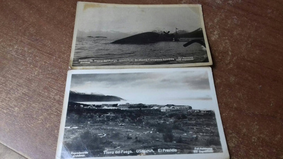 Lote De 2 Fotografias Postales Antiguas Ushuaia