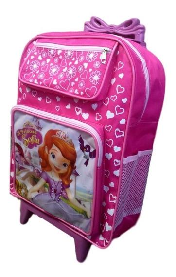 Mochila Escolar Infantil Princesinha Sofia De Rodinhas Tam G