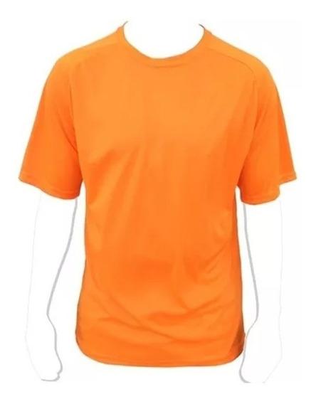 Remeras Deportivas Dry Fit Naranja Fluor Talla S Y M Calidad
